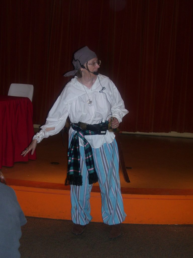 Lecturing at museum as pirate1