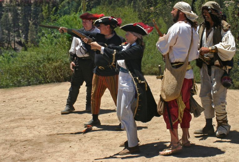 firing line with personal flintlock